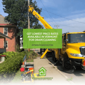 Get lowest price rates available in Vermont for drain cleaning